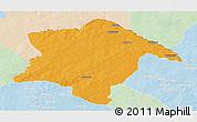 Political Panoramic Map of Karimama, lighten