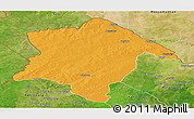 Political Panoramic Map of Karimama, satellite outside