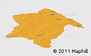 Political Panoramic Map of Karimama, single color outside