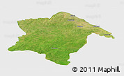 Satellite Panoramic Map of Karimama, single color outside