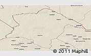 Shaded Relief Panoramic Map of Karimama
