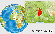 Physical Location Map of Borgou