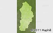 Physical Map of Borgou, darken