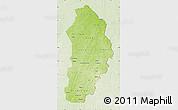 Physical Map of Borgou, lighten
