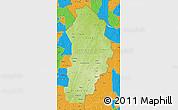 Physical Map of Borgou, political outside