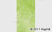 Physical Map of Borgou