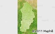 Physical Map of Borgou, satellite outside