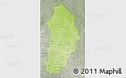 Physical Map of Borgou, semi-desaturated