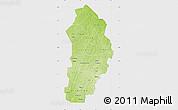 Physical Map of Borgou, single color outside
