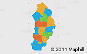 Political Map of Borgou, cropped outside