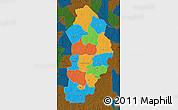 Political Map of Borgou, darken