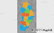 Political Map of Borgou, desaturated