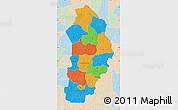 Political Map of Borgou, lighten