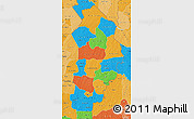 Political Map of Borgou, political shades outside