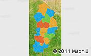 Political Map of Borgou, satellite outside