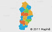 Political Map of Borgou, single color outside