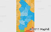 Political Shades Map of Borgou