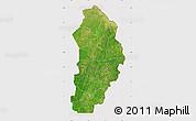 Satellite Map of Borgou, cropped outside