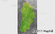Satellite Map of Borgou, desaturated