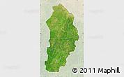 Satellite Map of Borgou, lighten