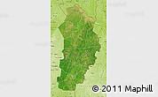 Satellite Map of Borgou, physical outside