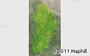 Satellite Map of Borgou, semi-desaturated