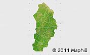 Satellite Map of Borgou, single color outside