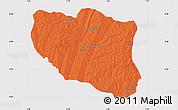 Political Map of Ndali, cropped outside