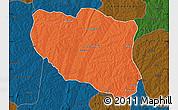 Political Map of Ndali, darken