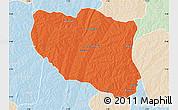 Political Map of Ndali, lighten