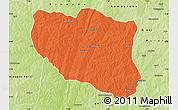 Political Map of Ndali, physical outside