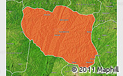Political Map of Ndali, satellite outside