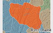Political Map of Ndali, semi-desaturated