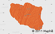 Political Map of Ndali, single color outside