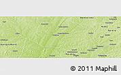 Physical Panoramic Map of Ndali