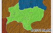 Political Map of Nikki, darken