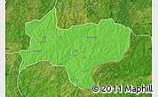 Political Map of Nikki, satellite outside