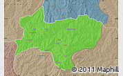 Political Map of Nikki, semi-desaturated