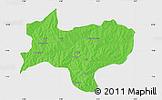 Political Map of Nikki, single color outside