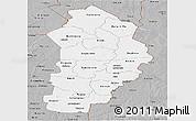 Gray Panoramic Map of Borgou