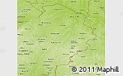 Physical Panoramic Map of Borgou