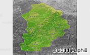 Satellite Panoramic Map of Borgou, desaturated