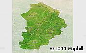Satellite Panoramic Map of Borgou, lighten