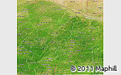 Satellite Panoramic Map of Borgou