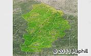 Satellite Panoramic Map of Borgou, semi-desaturated