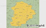 Savanna Style Panoramic Map of Borgou