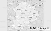 Silver Style Panoramic Map of Borgou