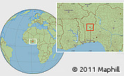 Savanna Style Location Map of Parakou