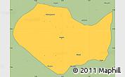 Savanna Style Simple Map of Parakou