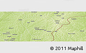 Physical Panoramic Map of Perere
